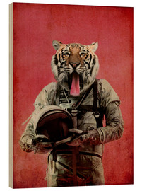 Wood print  Space tiger - Durro Art