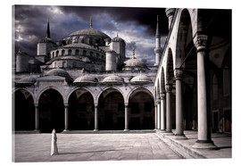 Acrylic print  Lady and the mosque - Daniel Murphy