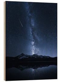 Wood print  Galaxies Reflection - Toby Harriman
