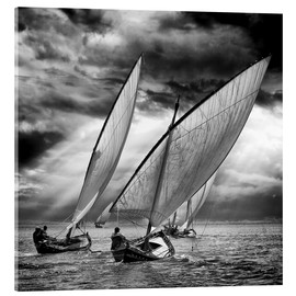 Acrylic print  Sailboats and light - Angel Villalba