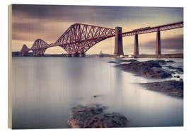 Wood print  Forth Rail Bridge - Martin Vlasko