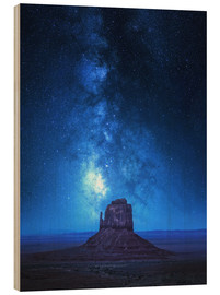 Wood print  Monument Milkyway - Juan de Pablo