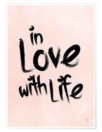 Premium poster in love with life