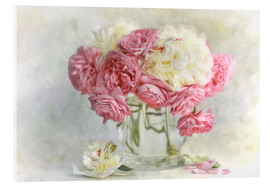 Acrylic print  roses and peonies - Lizzy Pe