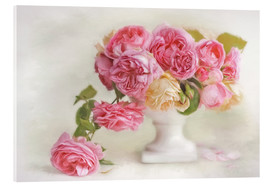 Acrylic print  pink roses - Lizzy Pe