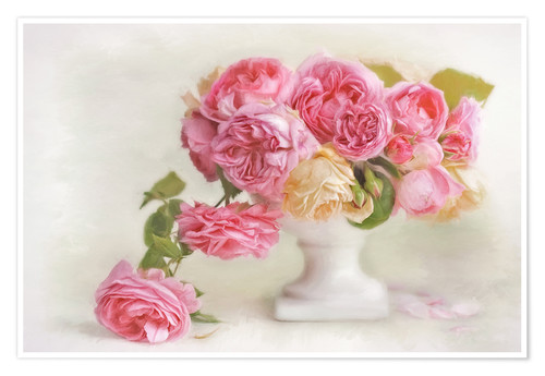 Poster pink roses