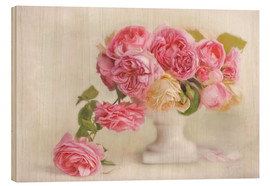 Wood  pink roses - Lizzy Pe
