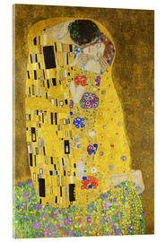 Acrylic glass  The Kiss (portrait) - Gustav Klimt