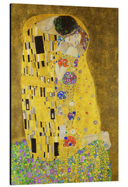 Aluminium print  The Kiss (portrait) - Gustav Klimt