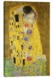 Canvas  The Kiss (portrait) - Gustav Klimt