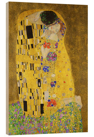 Wood  The Kiss (portrait) - Gustav Klimt