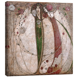 Canvas  The White Rose And The Red Rose - Margaret MacDonald Mackintosh