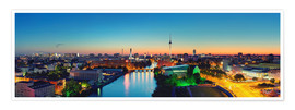 Poster  Berlin Skyline Panorama - Marcus Klepper