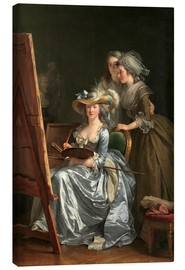 Canvas print  Adelaide Labille-Guiard with two schoolgirls - Adelaide Labille-Guiard