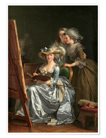 Premium poster Adelaide Labille-Guiard with two schoolgirls