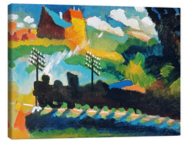 Canvas  Railway in Murnau - Wassily Kandinsky