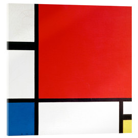 Acrylic glass  Composition with Red, Yellow and Blue - Piet Mondrian