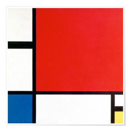 Premium poster  Composition with Red, Yellow and Blue - Piet Mondrian