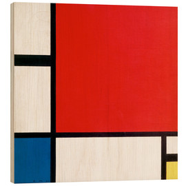 Wood  Composition with Red, Yellow and Blue - Piet Mondrian