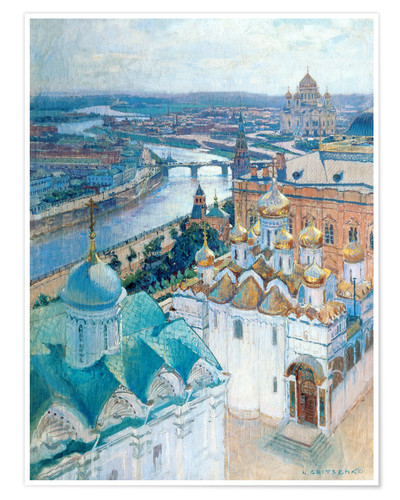 Premium poster View of Moscow