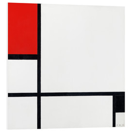 Foam board print  composition - Piet Mondriaan