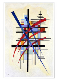 Poster  Mark with accompaniment - Wassily Kandinsky