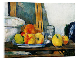 Acrylic glass  Still life with open drawer - Paul Cézanne