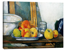 Canvas print  Still life with open drawer - Paul Cézanne