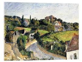 Acrylic print  The bending road - Paul Cézanne