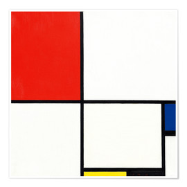 Premium poster Composition with red, blue and yellow