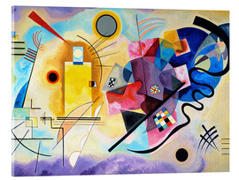 Acrylic glass  Yellow, red and blue - Wassily Kandinsky