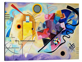 Aluminium print  Yellow, red and blue - Wassily Kandinsky