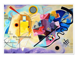 Premium poster  Yellow, red and blue - Wassily Kandinsky