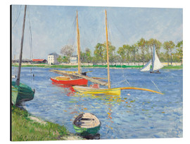 Aluminium print  The Seine at Argenteuil - Gustave Caillebotte