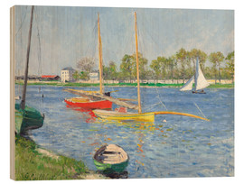 Wood  The Seine at Argenteuil - Gustave Caillebotte