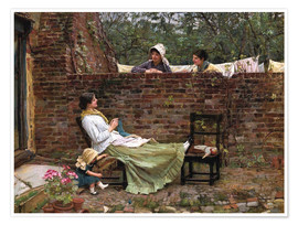 Premium poster  Chat - John William Waterhouse