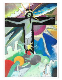 Premium poster  crucified Christ - Wassily Kandinsky