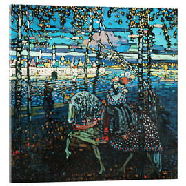 Acrylic print  Couple on a horse - Wassily Kandinsky