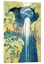 Acrylic print  Waterfall of Amida at the Kiso Street - Katsushika Hokusai
