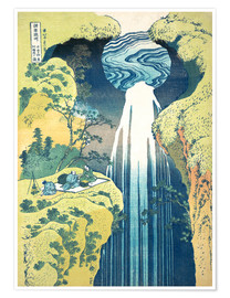 Premium poster  Waterfall of Amida at the Kiso Street - Katsushika Hokusai