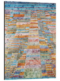 Aluminium print  Main path and byways - Paul Klee