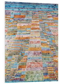 Foam board print  Main path and Byways - Paul Klee