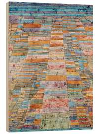 Wood print  Main path and byways - Paul Klee
