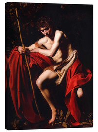 Canvas  St. John the baptist - Michelangelo Merisi (Caravaggio)