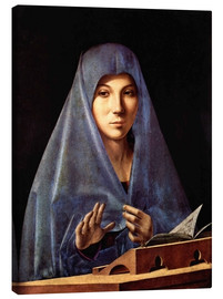 Canvas print  Mary of the Annunciation - Antonello da Messina