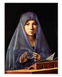 Premium poster  Mary of the Annunciation - Antonello da Messina