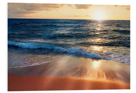 Foam board print  Waves at Sunset - Lichtspielart
