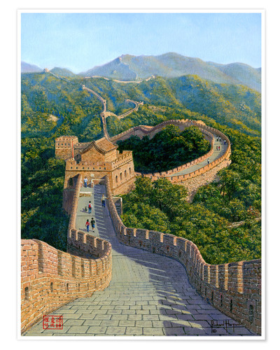 Premium poster Great Wall of China   Mutianyu Section 1