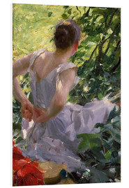 Foam board print  In the Woods - Anders Leonard Zorn
