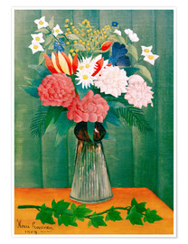 Premium poster  Bouquet on the branch of ivy - Henri Rousseau